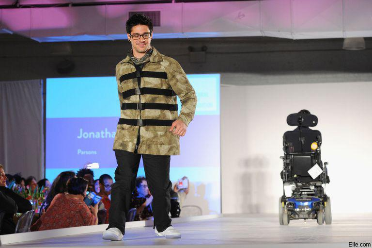Disabled model for Derek Lam's fashion show runway